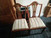 x2 solid wooden antique Italian dining chairs (2 FOR £25) [DELIVERY AVAILABLE]