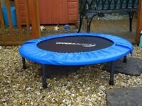 Upper Bounce 40 inch Mini Foldable Trampoline with Handrail
