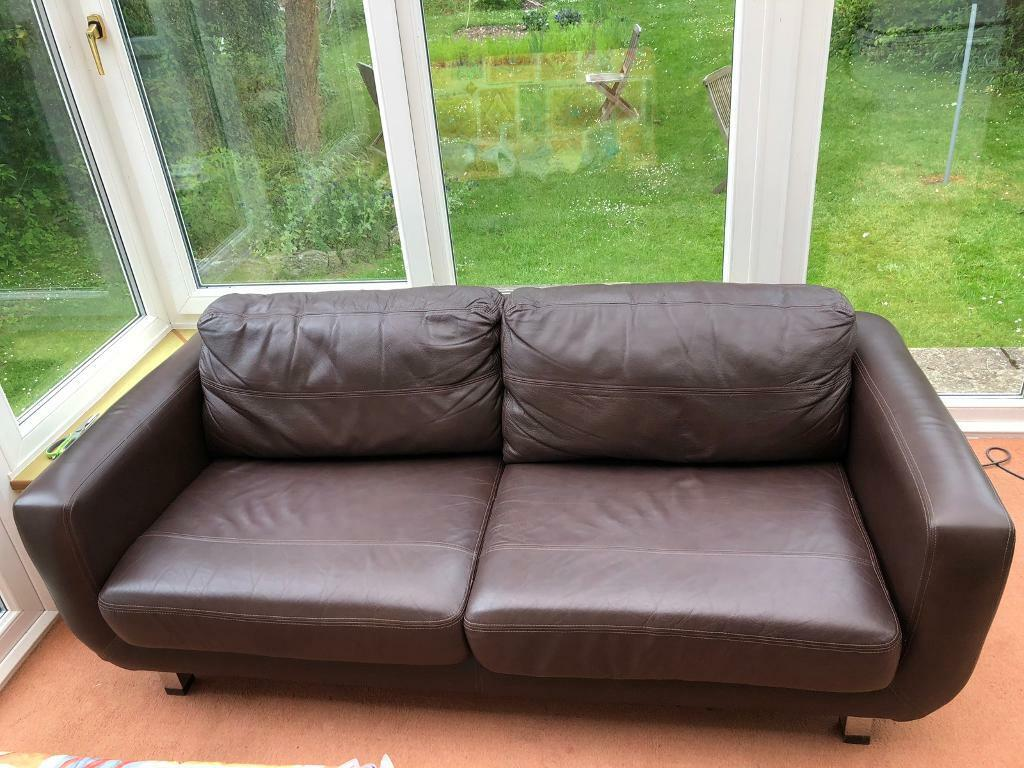 Phenomenal John Lewis 2 3 Person Leather Sofa In Winchester Hampshire Gumtree Ncnpc Chair Design For Home Ncnpcorg