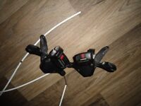 MTB Shimano Deore M590 9 Speed Rapidfire gear shifters. A Pair.