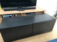 Dark wood effect TV cabinet - available for urgent collection