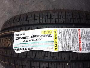 ONE TIRE ONLY . BRAND NEW WITH LABEL  BRIDGESTONE HIGH PERFORMANCE 235 / 50 / 19 ALL SEASON TIRE