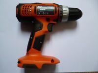 new aeg battery drill body only 18v bs-18g