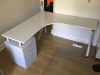 Office Desk - IKEA Style - L Shaped with Drawers