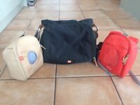 Pacapod black changing bag, pods and mat - excellent condition