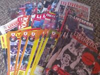 Official Liverpool Football Club Programmes X 88 1981 - 1998 Collectable Memorabilia
