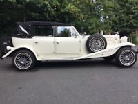 Beauford Wedding Car. 4 door, Ford Pinto 2.0 engine. Old English White. Lovely condition. £21000