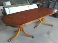 large dining table, seats 8 people