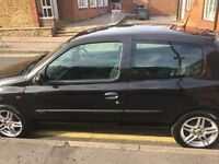 2006 Renault Clio 1.2 Black 3 door Hatchback, Alloy Wheels, Petrol 96809 miles good little runner