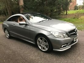 MercedesBenz E350 AMG FULLY LOADED PANROOF SATNAV TAN LEATHER HEATED SEATS XENONS WELL MAINTAINED