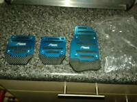Blue car pedals