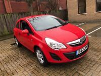 2013 VAUXHALL CORSA 1.0 S PETROL MANUAL 3 DOOR HATCHBACK 5 SEAT MOT CHEAP INSURANCE RED N ASTRA POLO