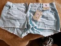 Mini shorts UK 14