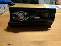 Pioneer MVH 1400UB HEAD UNIT CAR RADIO. USB IPOD IN AUX