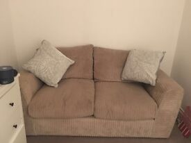 Grey cord sofa great condition £40