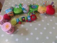 Eric Carle Toys. 2 Catterpillars and 2 shakers. Large caterpillar £18 on Amazon.