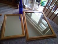 2 beautiful pine mirrors, waxed, cleaned and ready for pick up.