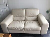 QUICK SALE - Belgica Italian cream leather sofas - £225