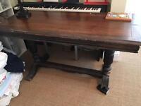 Extending antique table