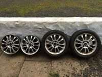 "4 X 16"" Volvo wheels with 2 summer tyres and 4 winter"