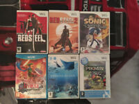 5 Wii Games and 1 Wii U Game for Sale