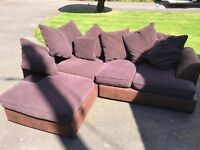 Brown corner sofa. Can deliver