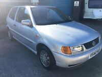 SPARES / REPAIRS - Volkswagen Polo 1.0 L, 1999/V Reg, MOT til 28th August 2017, 3 Door Hatch, Silver