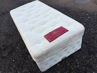 Bargain Luxury Single Divan Bed & Mattress Excellent Condition, Free Delivery In Norwich,