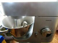 kenwood mixer, glass liquidiser, blender and accessories