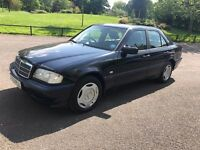 96P MERCEDES BENZ C180 AUTO CLASSIC CAR ONE OWNER FROM BRAND NEW HISTORY FULL MOT FANTASTIC PX SWAPS