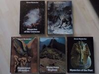 5 x Large Hard Backed Books from the Great Mysteries Set - Collect PE27 asap