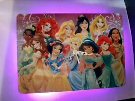 Clock, led princesses clock