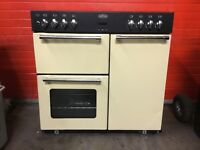 Belling range dual fuel gas cooker 90GT 90cm cream FSD ex-display 3 months warranty free local deliv
