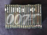 JAMES BOND 007 DVDS - 19 FILM JOBLOT (DR NO to THE WORLD IS NOT ENOUGH) SPECIAL EDITION VERSIONS