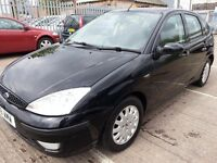 FORD FOCUS GHIA BLACK LOW MILES 70K 2002 REG