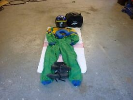 sparco go karting racing overalls size 52(medium) and sparco karting boots size 42