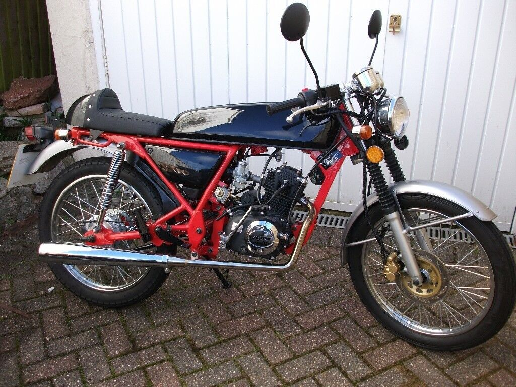 skyteam ace 50cc cafe racer moped immaculate in paignton. Black Bedroom Furniture Sets. Home Design Ideas