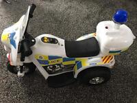 RIDE ON ELECTRIC POLICE MOTORBIKE