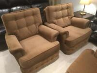 2 seater and 2 separate chairs in good condition