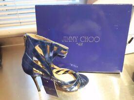 Size 5 Jimmy Choo high heels with tags metallic blue