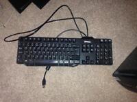Black Dell Qwerty UK Keyboard Desktop PC Computer