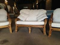 Free delivery wicker set sofa chair couch