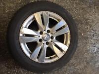 "Mercedes benz 16"" e class alloy wheel with tyre 5x112"