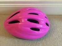 Pink childs cycling helmet excellent condition