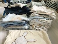 Over 50 items of baby clothes, size 3-12 month