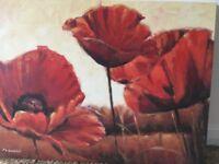 2 poppy canvasses