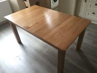Chunky Farmhouse Solid Oak Kitchen Dining Table NEW / Unused Bargain 150cm x 90cm (Collection Only)