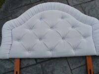 HEADBOARD FOR SINGLE BED (GREY/SILVER)