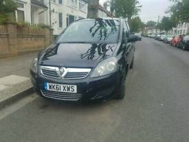 Vauxhall Zafira Eco Flex 1.7 diesel, 6 gears manual, 7 seats, parking sensors, Mot'd