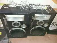 "Jamo D265 pair of 27"" speakers"